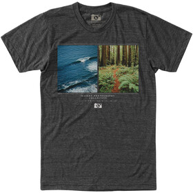 Hippy Tree Ratio Camiseta Hombre, heather charcoal